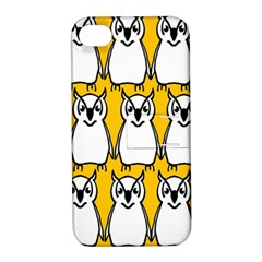 Yellow Owl Background Apple iPhone 4/4S Hardshell Case with Stand
