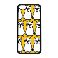 Yellow Owl Background Apple iPhone 5C Seamless Case (Black)