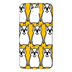 Yellow Owl Background Samsung Galaxy S5 Back Case (white)