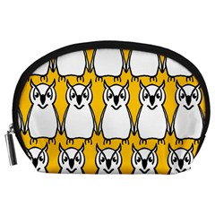 Yellow Owl Background Accessory Pouches (Large)