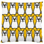 Yellow Owl Background Large Flano Cushion Case (Two Sides) Front