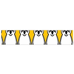 Yellow Owl Background Flano Scarf (small)