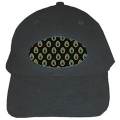 Peacock Inspired Background Black Cap