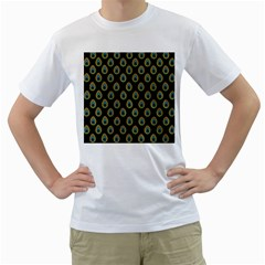Peacock Inspired Background Men s T Shirt (white) (two Sided)