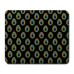 Peacock Inspired Background Large Mousepads