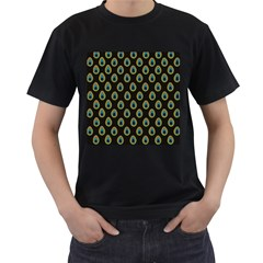 Peacock Inspired Background Men s T Shirt (black) (two Sided)