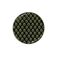 Peacock Inspired Background Hat Clip Ball Marker (4 pack)