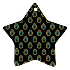 Peacock Inspired Background Star Ornament (two Sides)