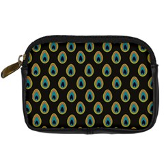 Peacock Inspired Background Digital Camera Cases