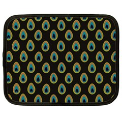 Peacock Inspired Background Netbook Case (xxl)