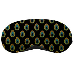 Peacock Inspired Background Sleeping Masks