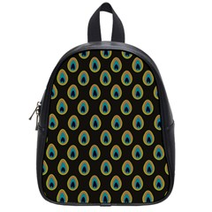 Peacock Inspired Background School Bags (Small)