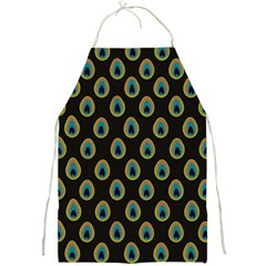 Peacock Inspired Background Full Print Aprons
