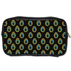 Peacock Inspired Background Toiletries Bags