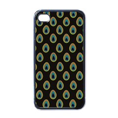 Peacock Inspired Background Apple iPhone 4 Case (Black)