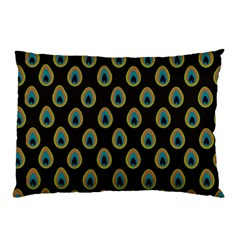 Peacock Inspired Background Pillow Case (Two Sides)