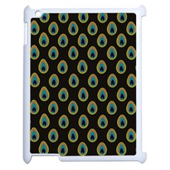 Peacock Inspired Background Apple iPad 2 Case (White)