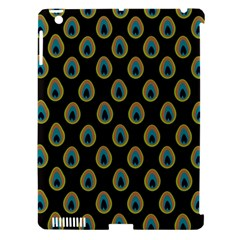 Peacock Inspired Background Apple iPad 3/4 Hardshell Case (Compatible with Smart Cover)