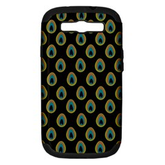Peacock Inspired Background Samsung Galaxy S III Hardshell Case (PC+Silicone)
