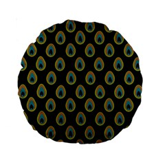 Peacock Inspired Background Standard 15  Premium Round Cushions