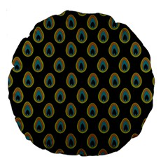 Peacock Inspired Background Large 18  Premium Round Cushions