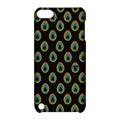 Peacock Inspired Background Apple iPod Touch 5 Hardshell Case with Stand