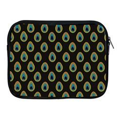 Peacock Inspired Background Apple iPad 2/3/4 Zipper Cases