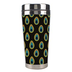 Peacock Inspired Background Stainless Steel Travel Tumblers
