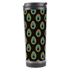 Peacock Inspired Background Travel Tumbler