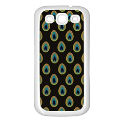 Peacock Inspired Background Samsung Galaxy S3 Back Case (White)
