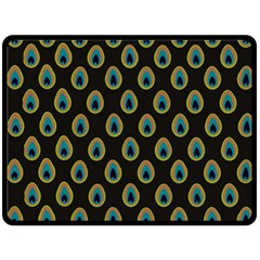 Peacock Inspired Background Double Sided Fleece Blanket (Large)