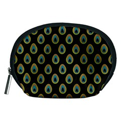 Peacock Inspired Background Accessory Pouches (Medium)