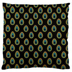 Peacock Inspired Background Standard Flano Cushion Case (Two Sides)