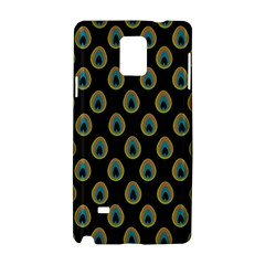 Peacock Inspired Background Samsung Galaxy Note 4 Hardshell Case