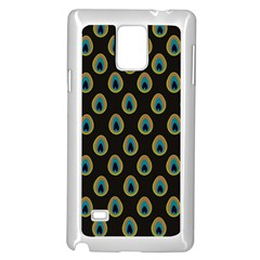 Peacock Inspired Background Samsung Galaxy Note 4 Case (White)