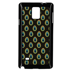 Peacock Inspired Background Samsung Galaxy Note 4 Case (black)