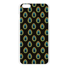 Peacock Inspired Background Apple Seamless iPhone 6 Plus/6S Plus Case (Transparent)