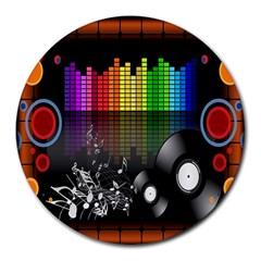Music Pattern Round Mousepads