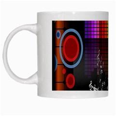 Music Pattern White Mugs