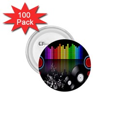 Music Pattern 1 75  Buttons (100 Pack)