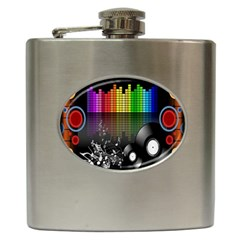 Music Pattern Hip Flask (6 oz)