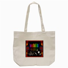 Music Pattern Tote Bag (Cream)