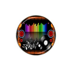 Music Pattern Hat Clip Ball Marker (10 Pack)