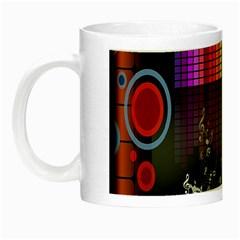 Music Pattern Night Luminous Mugs