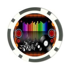 Music Pattern Poker Chip Card Guard