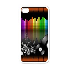 Music Pattern Apple iPhone 4 Case (White)
