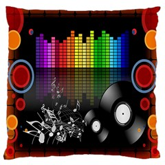 Music Pattern Large Cushion Case (Two Sides)