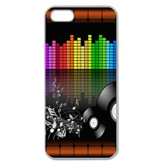 Music Pattern Apple Seamless Iphone 5 Case (clear)
