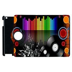 Music Pattern Apple iPad 2 Flip 360 Case