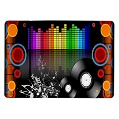 Music Pattern Samsung Galaxy Tab 10.1  P7500 Flip Case